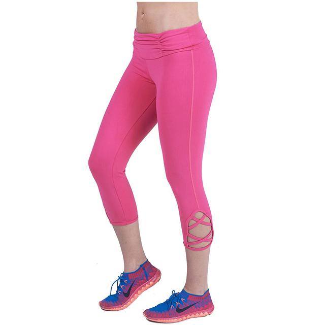 Yomsong Polainas de Los Capris de Color Sólido de Las Mujeres Media Pantorrilla Leggings Estirada Fitness Jegging Pantalones de Moda 181