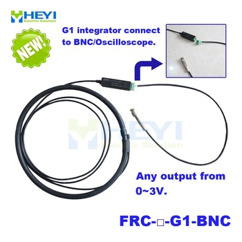 HEYI customised design Rogowski Coil with G1 integrator connect to BNC Oscilloscope with output from 0-3V as you require