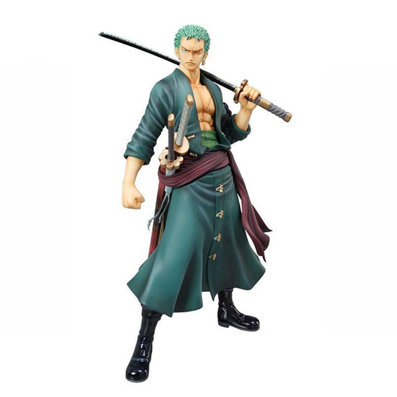 20cm One Piece Roronoa Zoro Cartoon Anime Action Figure PVC Model Toy Doll Gift Collection Heros Figurine Decor RT214 anime one piece ainilu handsome action pvc action figure classic collection model tot doll
