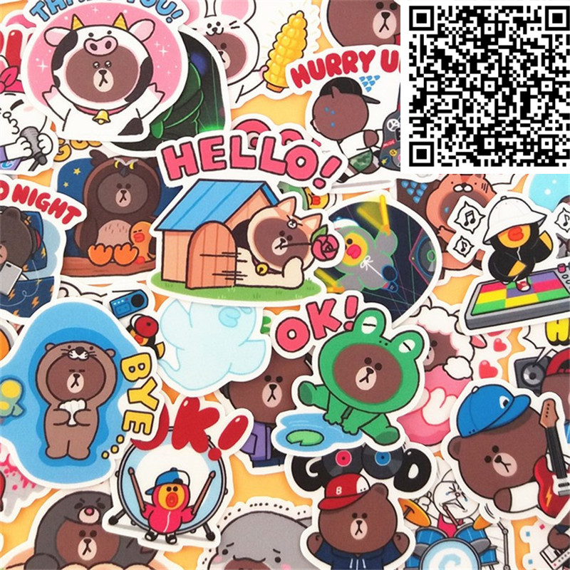 40 pcs Rogue Bear Stickers for  Notebook Planner Cute Cartoon Decorative Style toy Sticker Scrapbooking For Laptop Children40 pcs Rogue Bear Stickers for  Notebook Planner Cute Cartoon Decorative Style toy Sticker Scrapbooking For Laptop Children