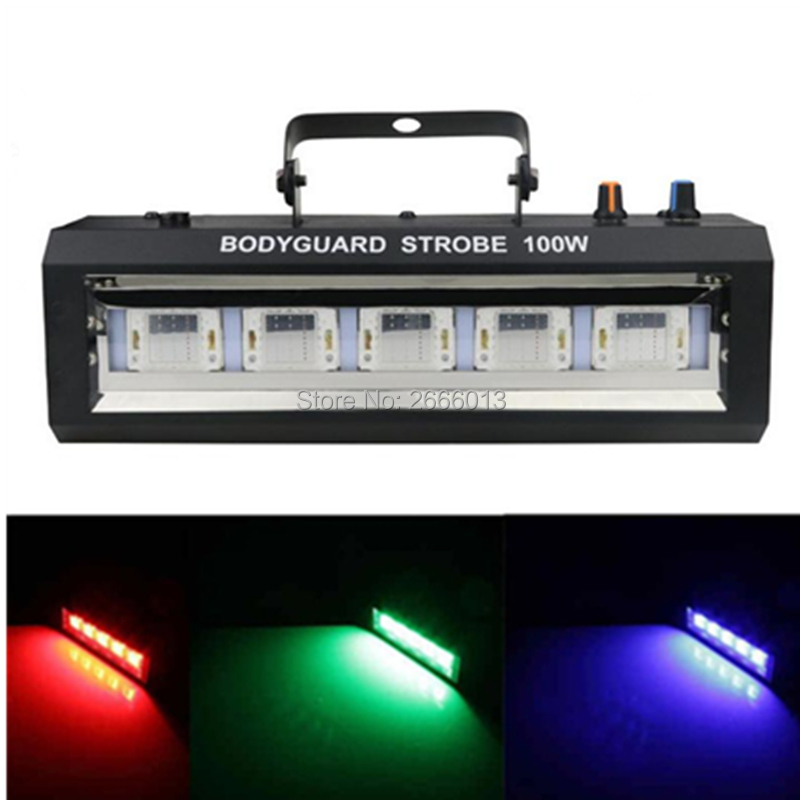 Auto Sound Control White/RGB 100W Led Strobe Light for DJ Discos Home Family Party Bar Stage Music Show stroboscope Flash light