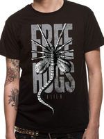Alien Free Hugs Xenomorph Ripley Prometheus Official Black Mens Tshirt