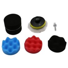7pcs 8CM Polishing Buffing Pad Kit for Auto Car Polishing Wheel Kit Buffer With Drill Adapter Car Removes Scratches 0255 цены