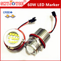 2X 60W Led marker angel eyes for E39 E87 E61 E63 E64 E83 E53 Car Styling Accessories DRL xenon white marker choice H8 marker led