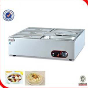 Free shipping 220v electric table top 6 tanks bain marie Electric soup pool commercial insulation deep soup stove