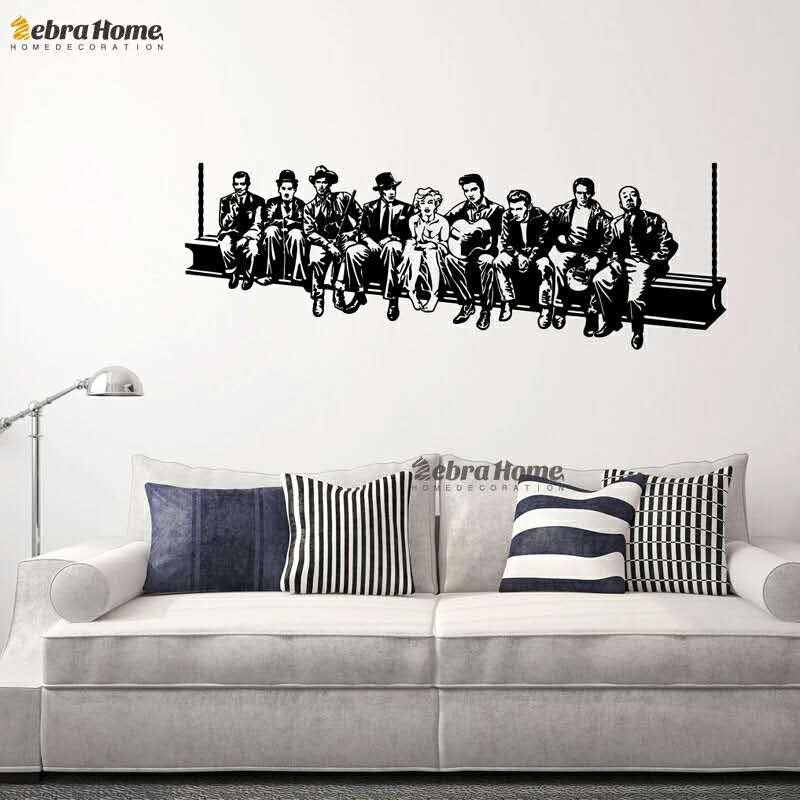 Aliexpress.com : Buy A Large Group Of People In Hollywood Wall Stickers  Decal Home Decoration Wall Mural Removable Wallpaper 45*130cm From Reliable  Wall ... Part 97