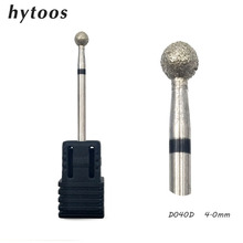 HYTOOS 3Pcs/lot Ball Diamond Nail Drill Bit 3/32″ Rotary Diamond Cuticle Burr Nail Manicure Bits Drill Accessories Mills Tool