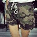 Mulheres Camuflagem Calções de verão Feminino de Alta Qualidade Exército Verde Camuflagem Shorts de Cintura Alta Senhoras Algodão Ocasional Curto Para As Mulheres