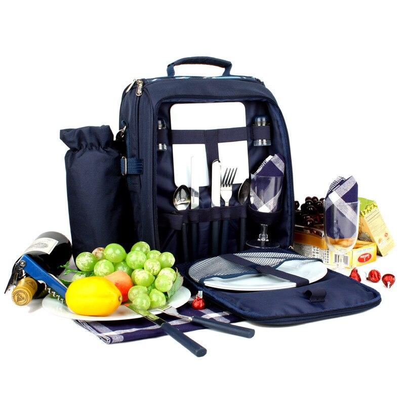 Camping pique-nique sac voyage déjeuner sac multifonction réfrigérateur sac cubiertos pique-nique ensemble extérieur Portable couverts sac