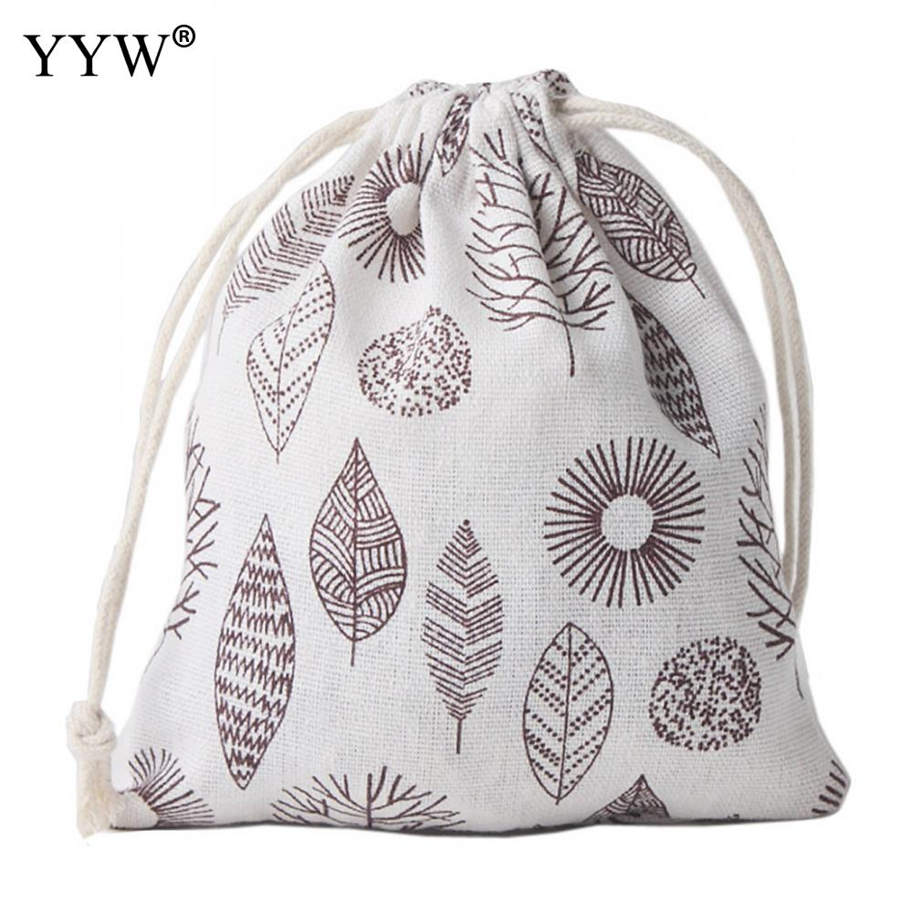YYW Good Quality Big Cotton Bags Wedding Drawstring Gift Bag Pouches Nice Cosmetic Bracelet Jewelry Packaging Bags 130x160mm