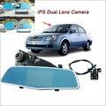 "For chery A5 Car Rearview Mirror Video Recorder Car DVR FHD 1080P Dual Camera Novatek 96655 WDR 5"" IPS Screen Car driving camera"