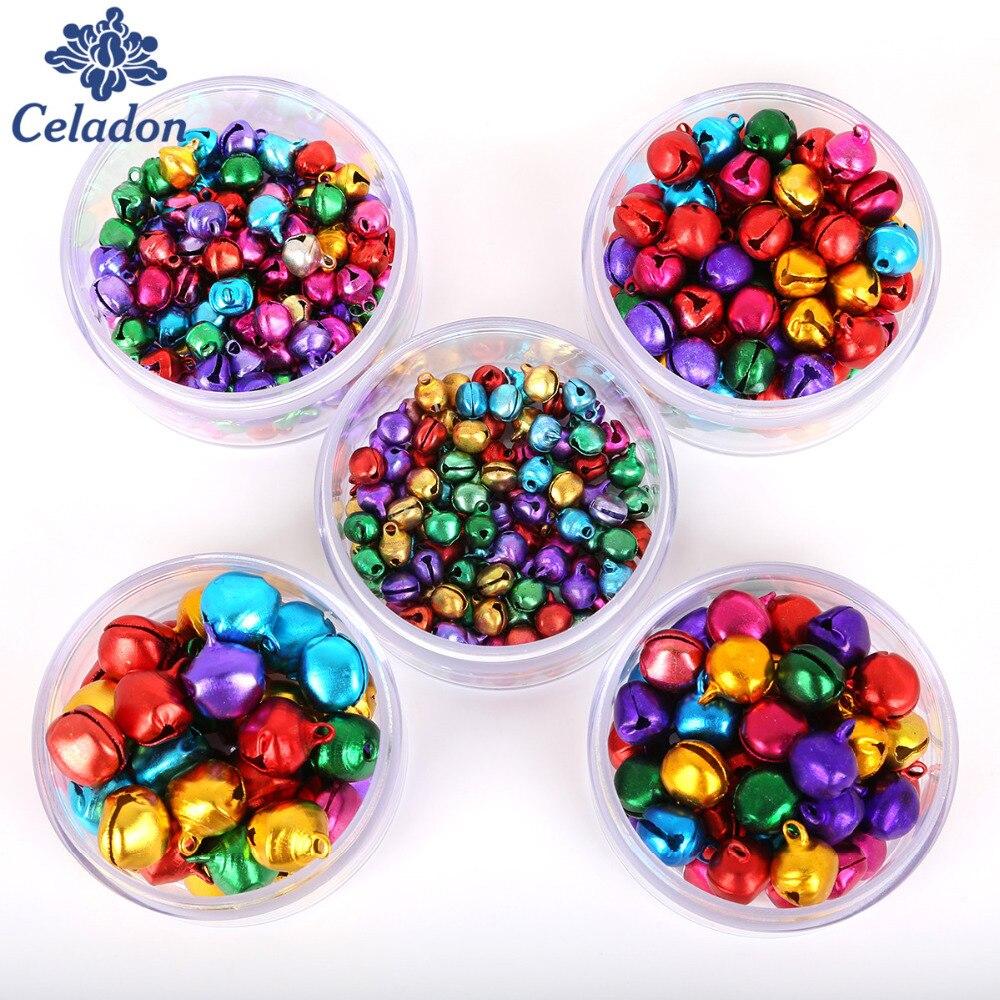 6 мм-мм 14 мм смешанные цвета свободные бусины маленькие звенящие колокольчики для вечерние праздничной вечеринки украшения/елочные украшения (30-200 шт.)