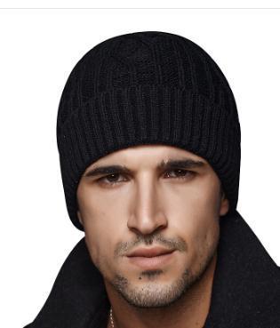 Marea sombrero gorro de lana de invierno de los hombres gruesa caliente mujeres pareja sombrero de punto casquillo al aire libre cabeza de la juventud