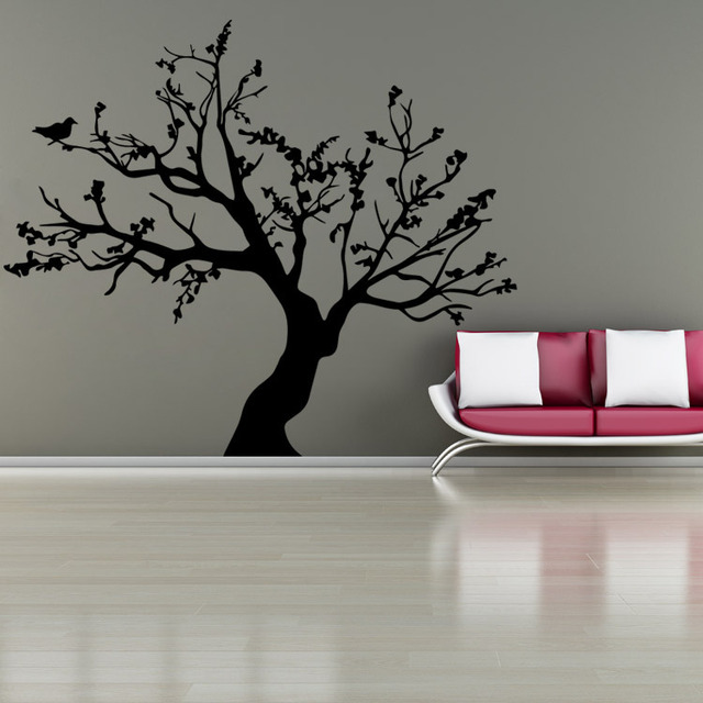 AWOO Birds On The Tree Vinyl Wall Sticker Art Decorative StickersGlass Window