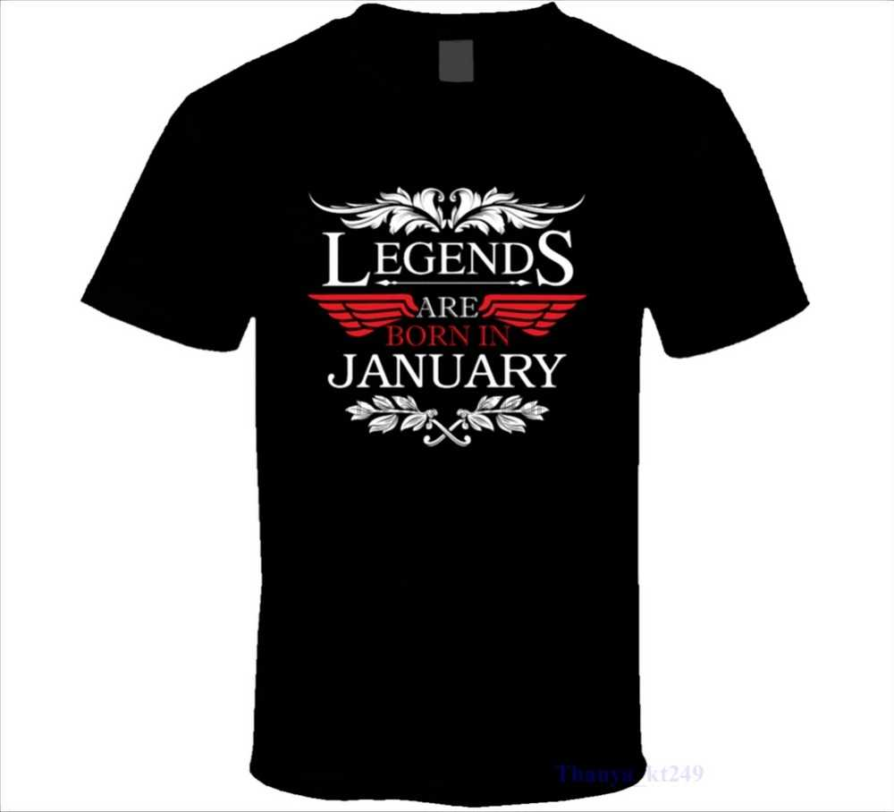 Novelty Design Men Are Born In January T Shirt Birthday 2017 New From US Man T Shirt Round Collar Tees
