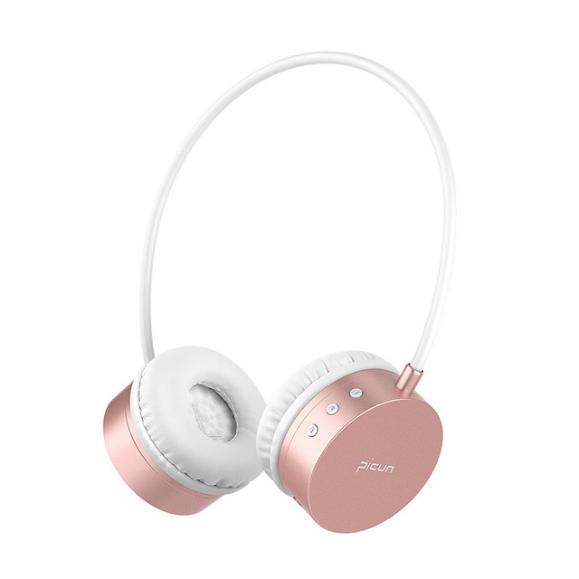 f116e2b6eb9 Wireless Headphones Rose Gold Bluetooth Earphones HIFI Sport Headsets  Stereo Headphone Bass Earphone With Mic For