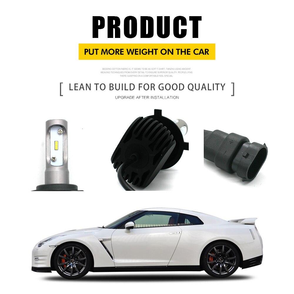 Modifygt S1 H4 Led Headlight Bulb H7 led H1 Car Hi Lo Beam HB3 HB4 Led light Automotive car styling 12V 50W 8000LM 6000K in Car Headlight Bulbs LED from Automobiles Motorcycles