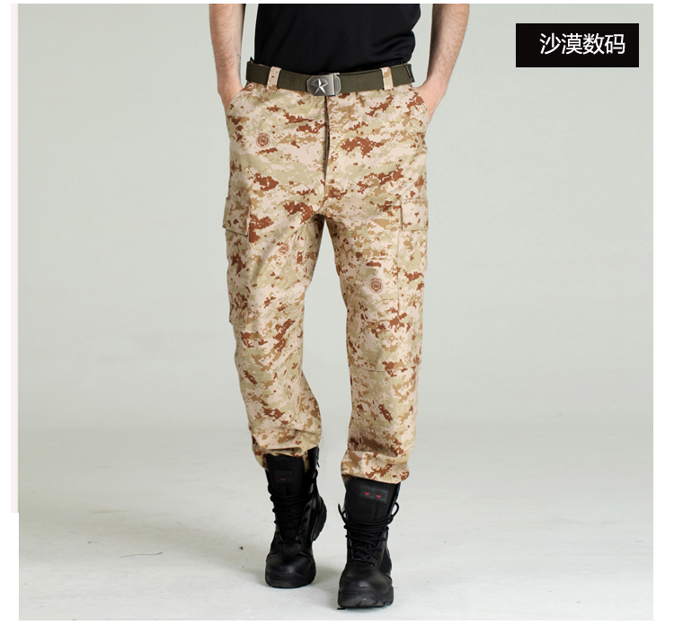 Outdoor sports Tactical army fans men Trousers Military Camping Mens Camouflage multi pocket Overalls Mountaineer hiking pants
