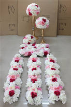SPR Free Shipping new arrival mix color wedding table centerpiece flower wall backdrop road lead row and arch  flower decoration