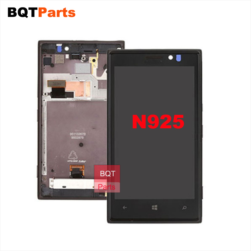ФОТО BQTparts For Nokia Lumia 925 Lcd Display with Touch Screen Digitizer with Frame Full Assembly