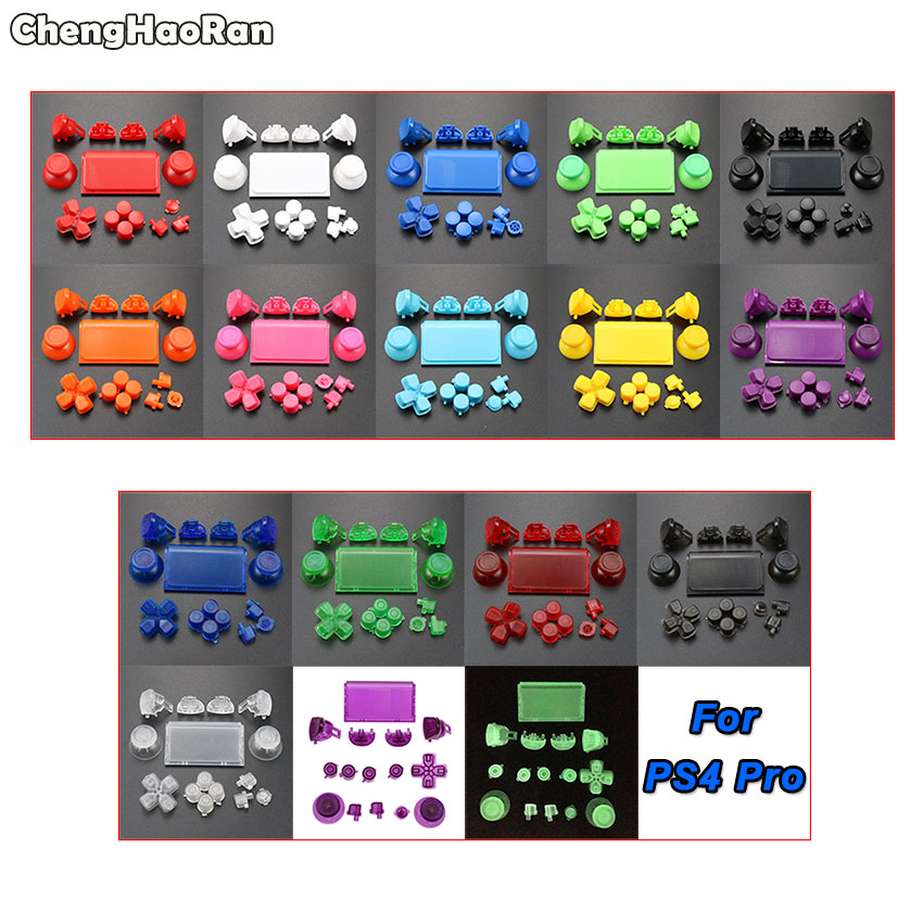ChengHaoRan Full Set Joysticks Dpad R1 L1 R2 L2 Direction Key ABXY Buttons For Sony PS4 Pro JDS-040 Controller