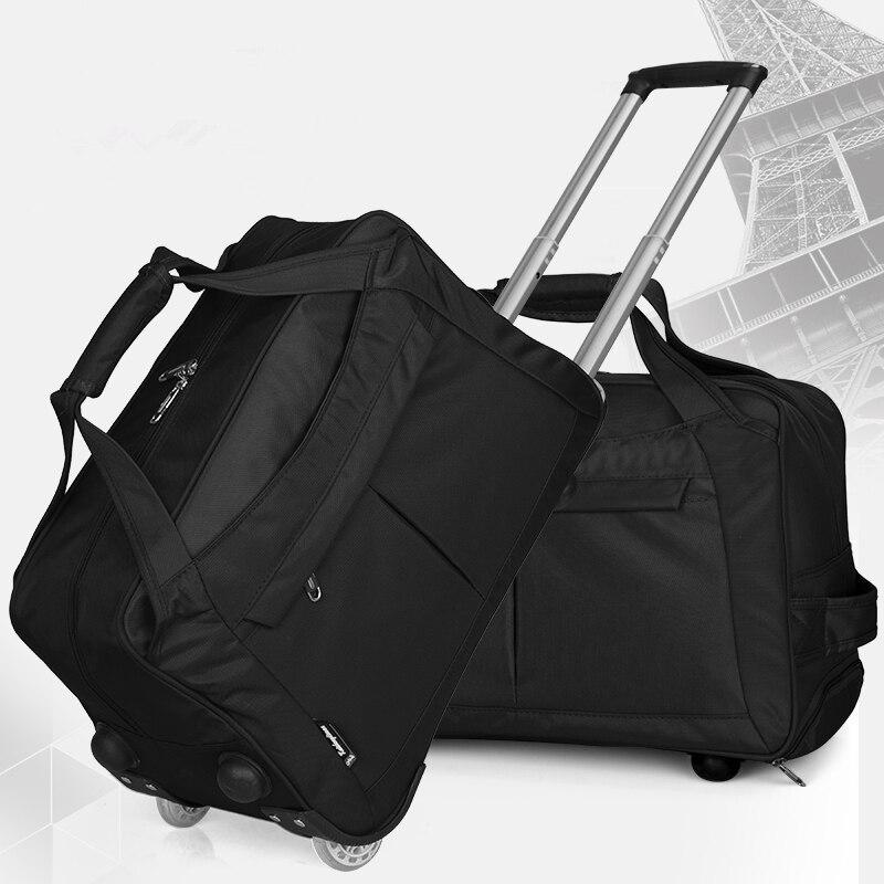 Nouvelle Arrivée! 20 pouces grande capacité oxford voyage chariot bagages sacs, femelle fixe roulette imperméable roulant voyage bagages
