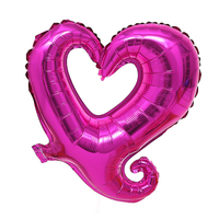 FBIL Heart Shape 18 Inch Foil Birthday Party Supplies Wedding Decor Balloons Lot Rose Red 50pcs