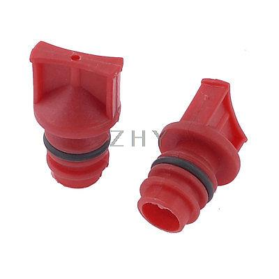 2 x Red Plastic Shell 0.73 Male Thread Oil Plugs for Air Compressor high tech and fashion electric product shell plastic mold