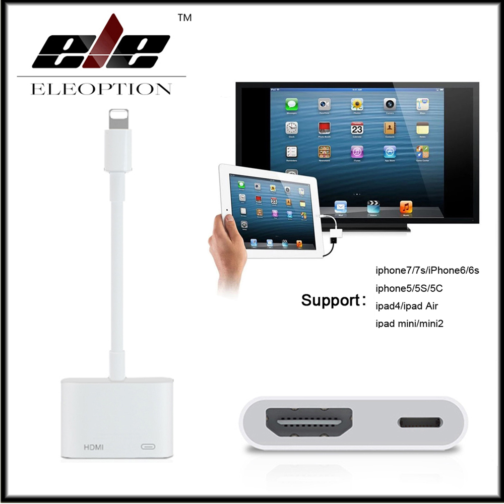 1080P HDMI For Lightning AV adapter HDMI / HDTV TV Digital Cable Adapter for iPhone 8 8 plus 7 7plus 6 6s 5 5s for iPad Series