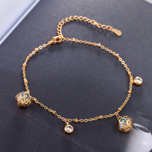 TJP Latest Gold Women Bracelets Jewelry 2018 Hot Sale Crystal  Lady Bangle Accessories With Cubic Zirconia Ball CZ Girl Gift