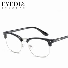 5f32294a99a Classical High End Men Women Half Metal Alloy Prescription Glasses Frames  Radiation Protection Computer Eye Glasses Frame L557CJ