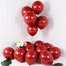 Gihoo 10Pcs 20Pcs 50Pcs 5Inch 12Inch Rudy Rode Glanzende Metalen Parel Latex Ballonnen Chrome Metallic kleur Wedding Party Decor