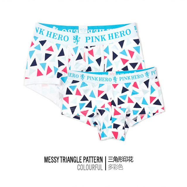 New men's Underwear Boxers Gorgeous Color Printing men Underwear Cotton Lingerie Sexy Boxers Factory Wholesale   091265#605