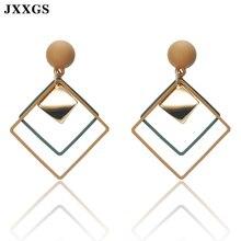 JXXGS Women Earrings Retro/Fashion Jewelry Rhombus/Round/Triangle Drop Geometrical for Wedding Party