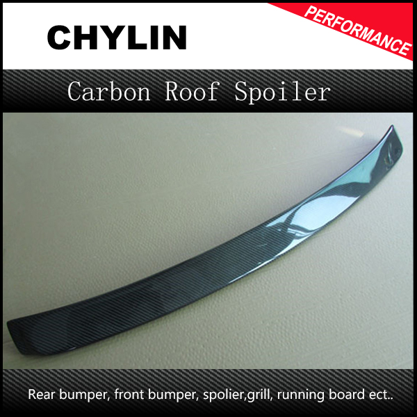 Carbon fiber AC style roof spoiler wing auto rear roof spoiler car back upper lip spoiler wing for BMW 3 series E90 2005-2012