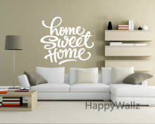 Home Sweet Family Quote Wall Sticker Decorating DIY Lettering Modern Decal Living Room