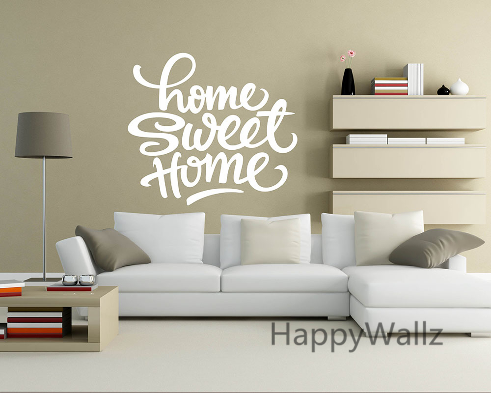 home sweet home family quote wall sticker decorating diy family home sweet home lettering quote wall