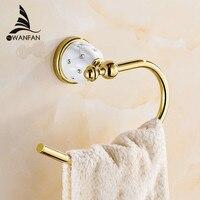 Handtuch Ringe Solide Messing Gold Handtuchhalter Bad Regal Handtuchhalter Kleiderbügel Luxus Bad-accessoires Wand Handtuchhalter 5207