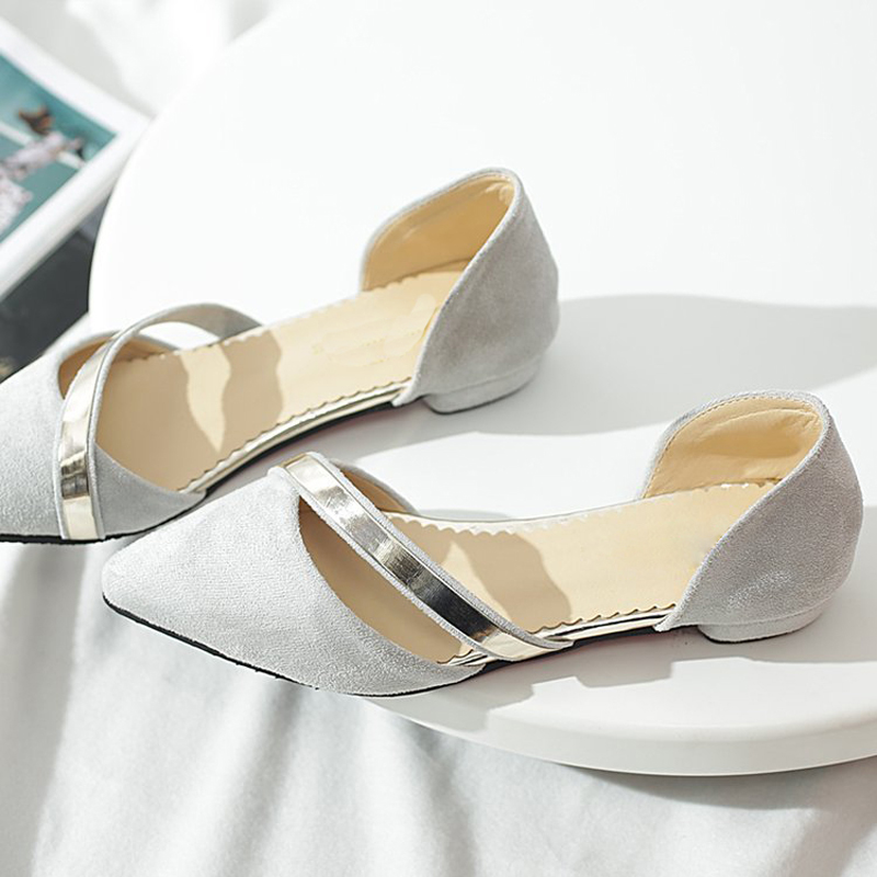 Plates Suede Glissement Faux Noir Profonde rose Femmes gris Peu Chaussures Paillettes Tendance Shinning Bouche Les Sur bleu Mode SWIx4B7nwq