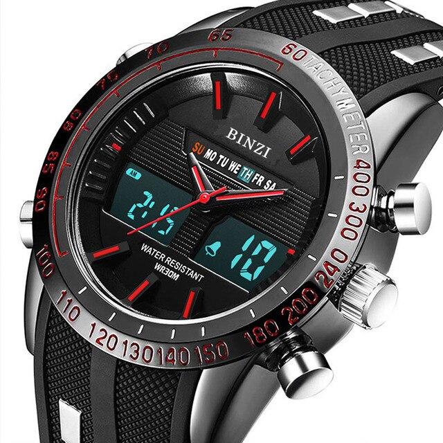 e1d2efe43b0 Relógio esportivo G Estilo Dos Homens Militares Relógio S Choque Eletrônico  Digital À Prova D