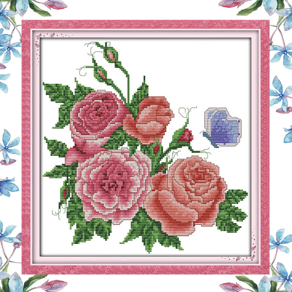 Nkf Roses Flower Handcraft Chinese Needlework Embroidery Christmas