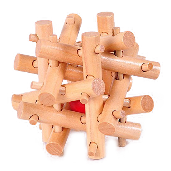 Wooden Twelve Sisters Take The Ball Cage Lock Interlocking Logic Puzzle Burr Puzzles