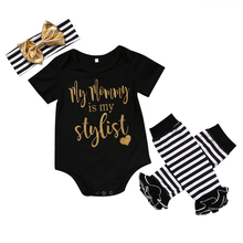 3PCS Set Newborn Baby Girl Clothes 2017 New Infant Bebes Short Sleeve Cotton Bodysuit Romper Leg