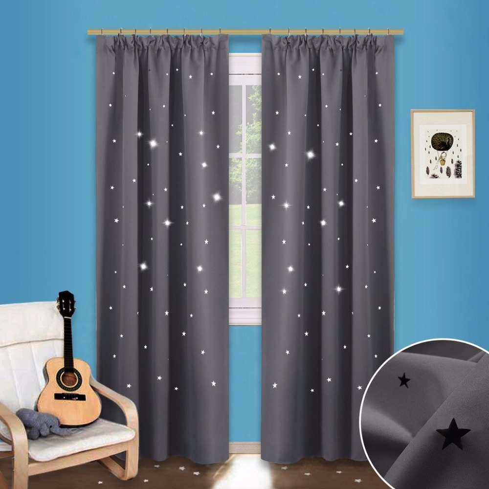NICETOWN Star Cutout Pencil Pleat Curtains Childishness Blackout Window  Drapes Hollow Star Curtains / Draperies For Nursery K In Curtains From Home  U0026 Garden ...
