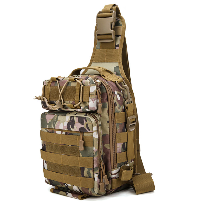 Army Military Hunting Camouflage Single Shoulder Cross Body Pack Outdoor Hiking Camping Tactical Bags For Men Women Climbing Bags Sports & Entertainment