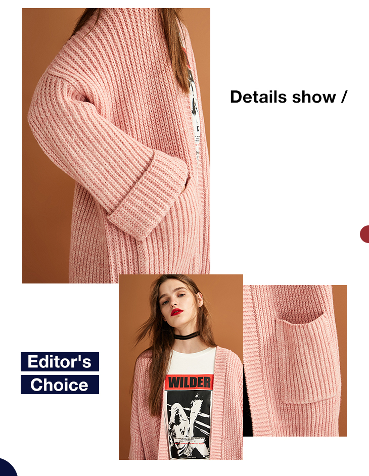 ONLY womens' autumn new cardigan long sweater sweater women Cuff design Cardigan design|11833B504 7