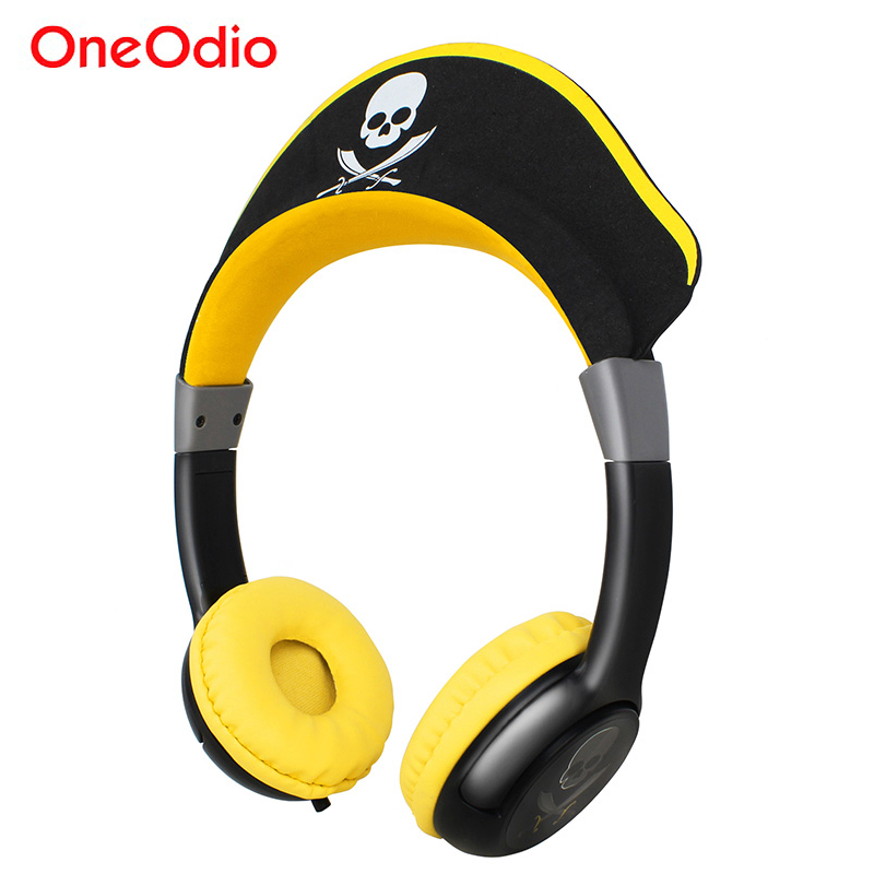 Oneodio Children Headphone Cute Pirate Portable Wired Child Earphone For Phone Boys Girls Gaming Headset Gifts Kids Headphones