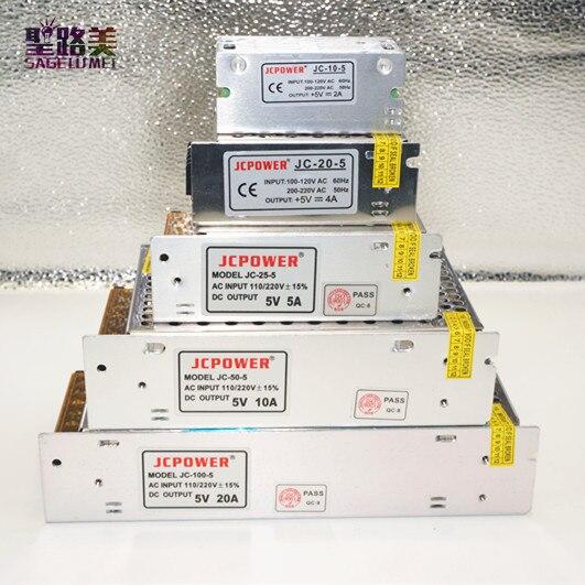 AC110v-220v DC5V 2A 3A 4A 5A 6A 8A 10A 12A 20A 30A 40A 60A alimentation à commutation régulée LED électronique transformateur d'éclairage