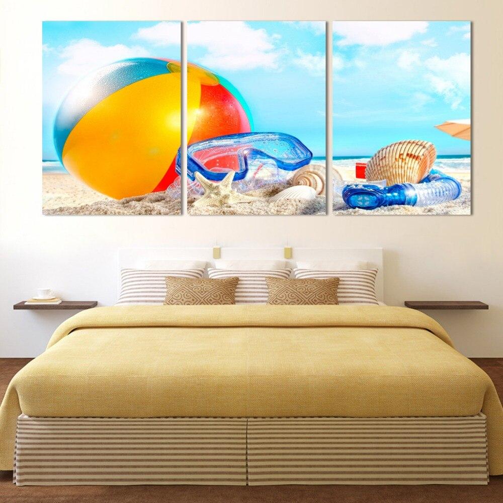 Hot Sell The beach balloon Modern Home Wall Decor painting Canvas ...