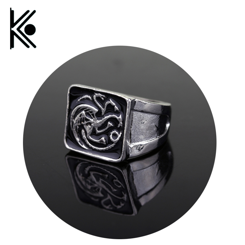 wholesale Game of Thrones Targaryen Dragon Ring House Targaryen coat of arms A Song of Ice and Fire Fire and Blood ...